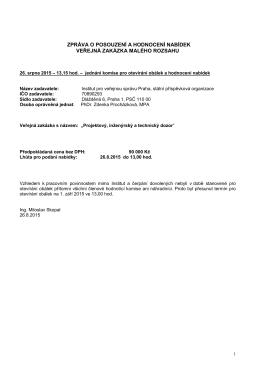 Projektový dozor - Zpráva o posouzení
