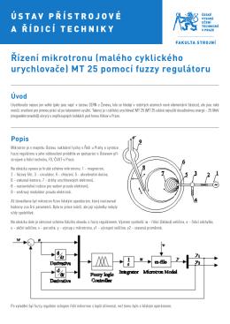 Řízení mikrotronu (malého cyklického urychlovače) MT 25 pomocí