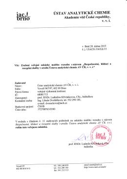 Oznámení o zrušení veřejné zakázky malého rozsahu na