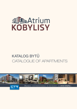 KATALOG BYTŮ CATALOGUE OF APARTMENTS