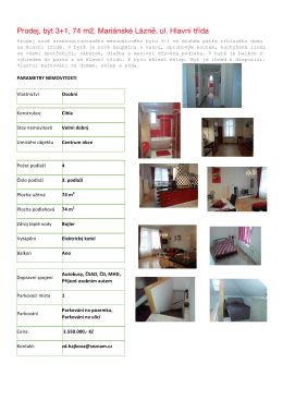 mezonetového bytu 3+1 - VISION Business Club