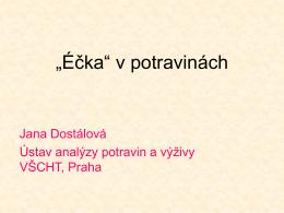 """""""Éčka"""" v potravinách"""