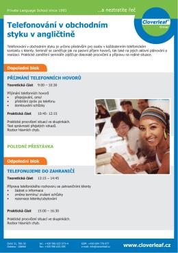 Telefonování v obchodním styku v angličtině