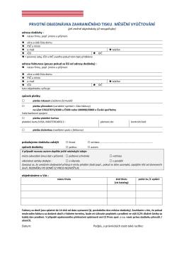 Formulář Měsíční účtování ve formátu PDF