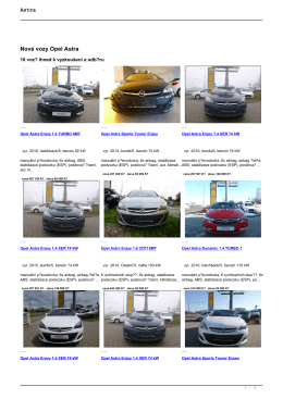 Nové vozy Opel Astra Ojeté vozy Opel Astra