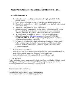 soutěžní pravidla (cz)