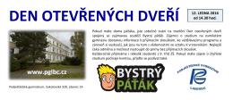 DEN OTEVŘENÝCH DVEŘÍ - Podještědské gymnázium