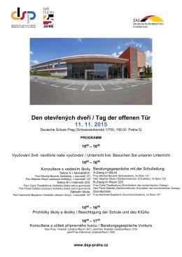 Den otevřených dveří / Tag der offenen Tür 11. 11. 2015