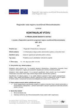 Text výzvy č. 1.4-05 Vybavení výjezdových jednotek požární ochrany