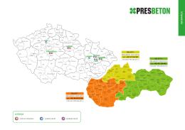 Slovensko - cenové rozdělení 2015 - Oblast 1 a Oblast 2