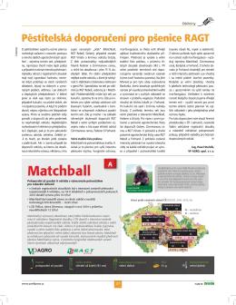 Pěstitelská doporučení pro pšenice RAGT