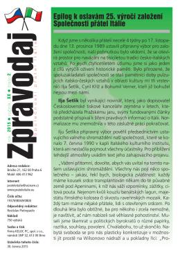 2015 - číslo 2 - Společnost přátel Itálie