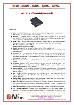 SBR - Sensor binds relay, pokuď je tento režim zapnut, činnost