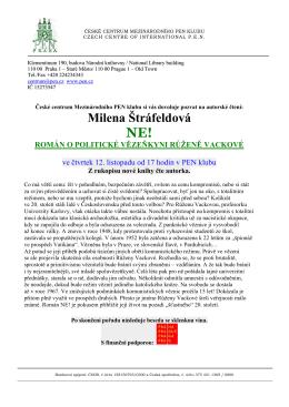 Milena Štráfeldová NE!
