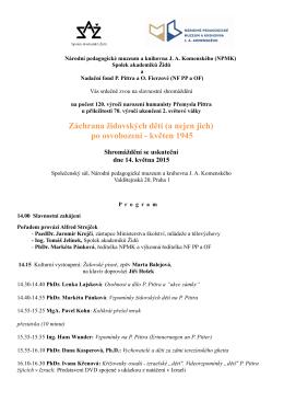 program shromáždění - Národní pedagogické muzeum a knihovna
