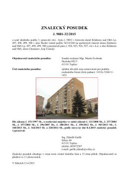 ZNALECKÝ POSUDEK - Exekutorský úřad Teplice