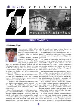 Zpravodaj Mestyse Veverska Bityska 10/2015