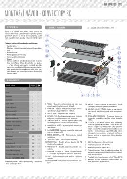 Montážní návod soklový konvektor SK MINIB