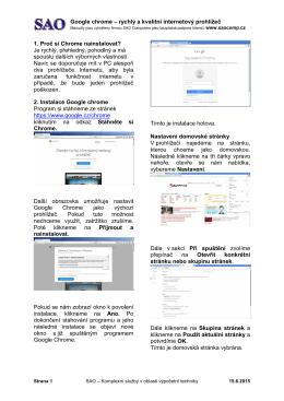 Google chrome – rychlý a kvalitní internetový