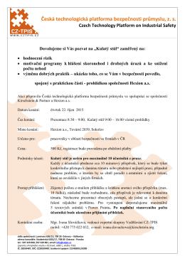 ZDE - Česká technologická platforma bezpečnosti průmyslu, o. s.