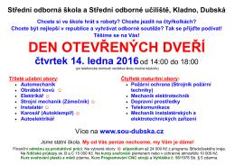 Střední odborná škola a Střední odborné učiliště, Kladno, Dubská