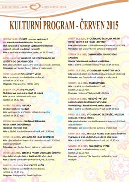 Kulturní program na měsíc červen