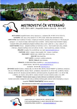 mistrovství čr mistrovství čr veteránů í čr veteránů