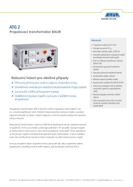 Propalovací transformátor BAUR Robustní řešení pro obtížné případy