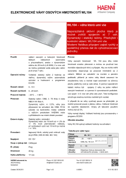 elektronické váhy osových hmotností wl104 - vas