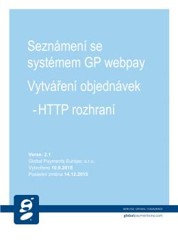 Seznámení se systémem GP webpay