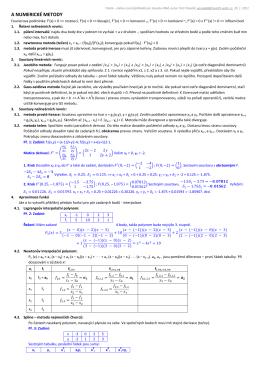3x A4, obsahuje hodně vzorců, někde i příklady.