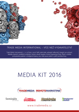 MEDIA KIT 2016 - Control Engineering Česko