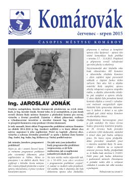 Ing. Jaroslav Jonák