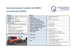 Starší kanalizační vozidlo HELLMERS na podvozku SCANIA