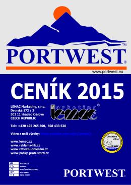 portwest ceník prodej 08-2015