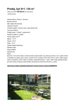 Prodej, byt 5+1, 134 m²