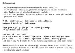 Reference (no) - v C hodnotou (přímou nebo hodnotou ukazatele