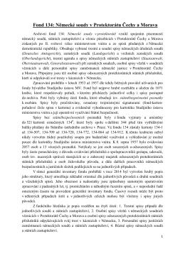 Prozatímní soupis k archivnímu fondu 134