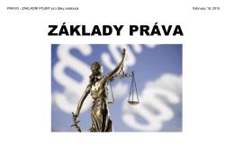 PRÁVO - ZÁKLADNÍ POJMY pro žáky.notebook
