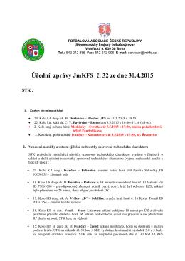 Úřední zprávy JmKFS č. 32 ze dne 30.4.2015