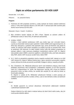 Zápis 08.04.2015 - VOS UJEP Ústí nad Labem