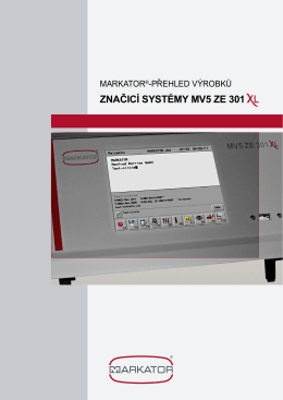 Brožura MV5 ZE 301 XL