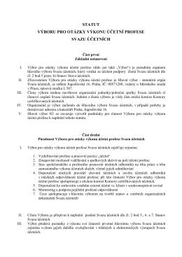 Statut Výboru pro otázky účetní profese Svazu