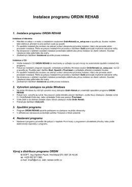 Instalace programu ORDIN REHAB