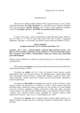 Jednací číslo: 8 E 5/2014-40 U S N E S E N Í Okresní soud v Děčíně