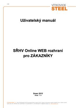Uživatelský manuál - VÍTKOVICE STEEL, as