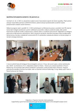 Návštěva Švýcarů v ČR - Asociace poskytovatelů sociálních služeb