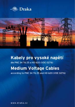 Kabely pro vysoké napětí Medium Voltage Cables