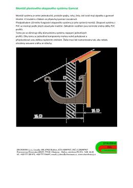 Montáž plastového okapového systému Gamrat - stavebny