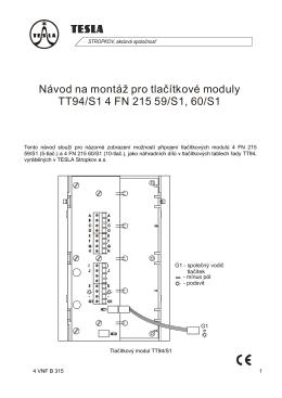 Moduly tlačítkové do TT94 verze S1